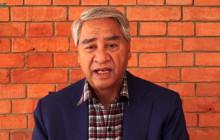 नेपाली कांग्रेसका सभापति शेरबहादुर देउवा।