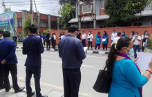 निजामती विधेयकविरूद्ध सिंहदरबारभित्रै कर्मचारीको प्रदर्शन