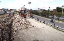 कोटेश्वर-जडिबुटी सडक विस्तारको काम धमाधम सुरू (भिडिओ)